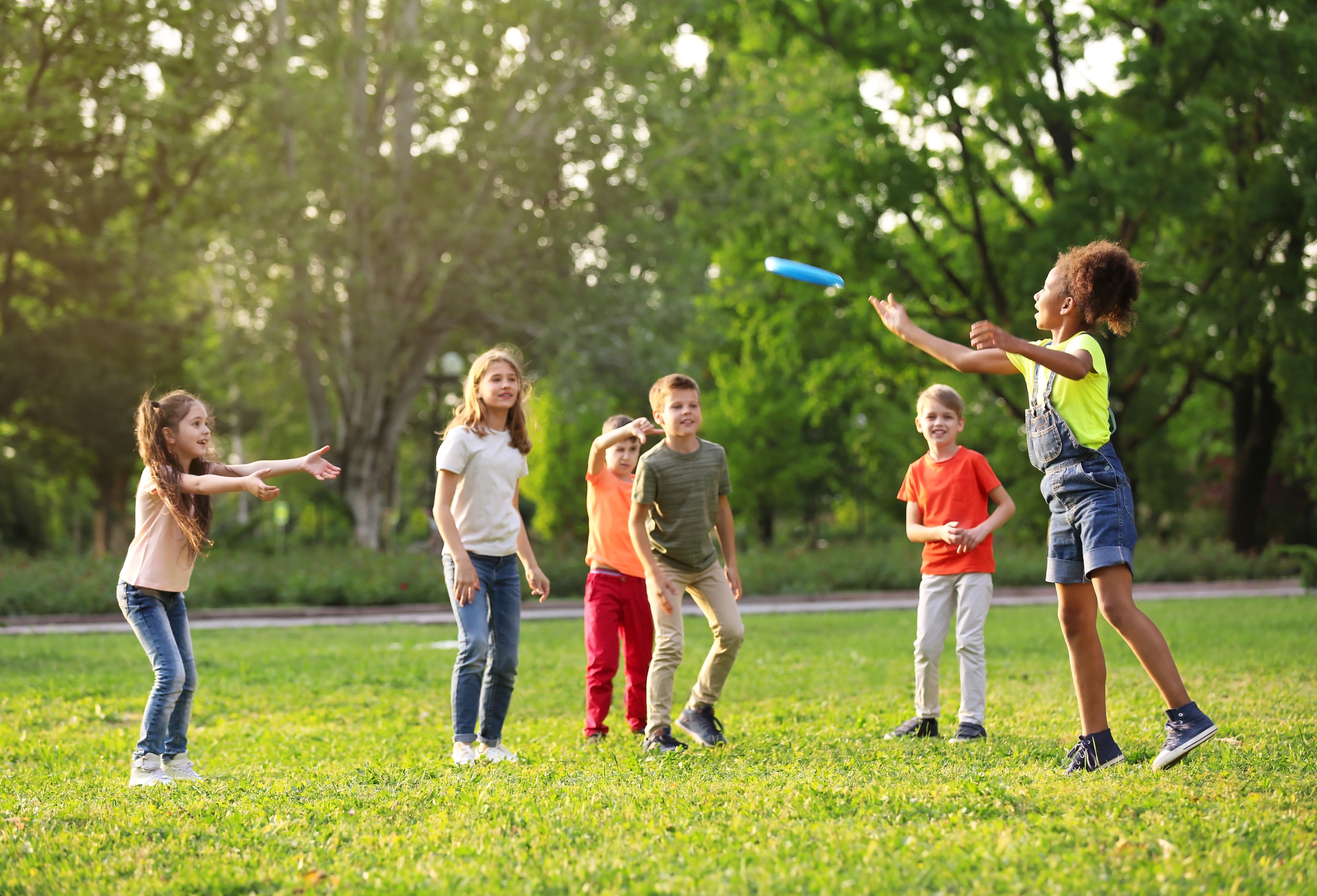 Children Playing UFO Space Frisbee